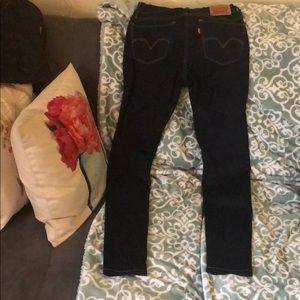 Dark Denim Levi Skinny Jeans